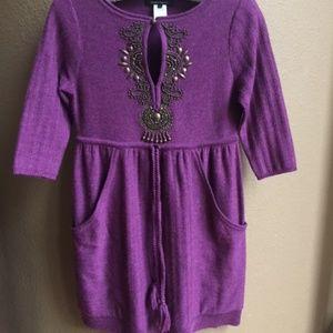 Nanette Lepore Merino Wool Sweater Dress S